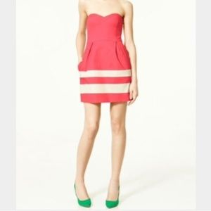Zara Strapless Sweetheart Cocktail Dress w Pockets